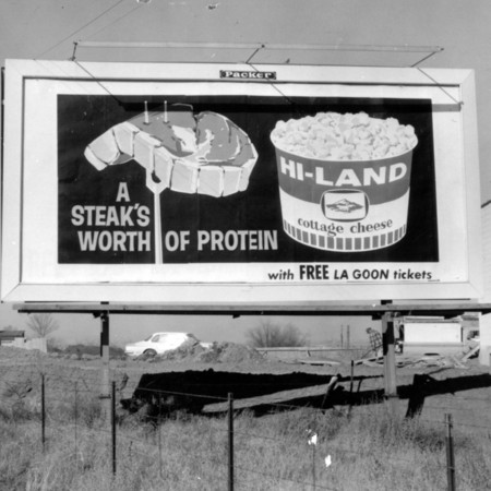 Hi-Land Cottage Cheese road sign in Weber County