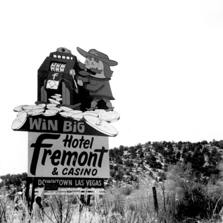Fremont Hotel road sign in Garfield County
