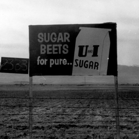 U and I Sugar Beets road sign in Sanpete County