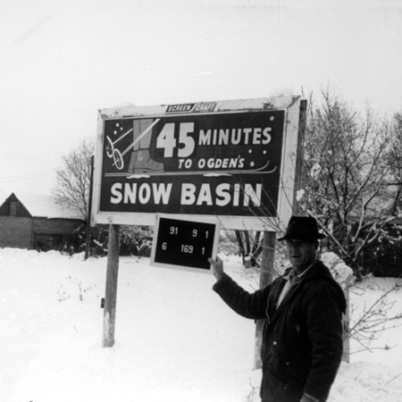 Snow Basin road sign in Davis County