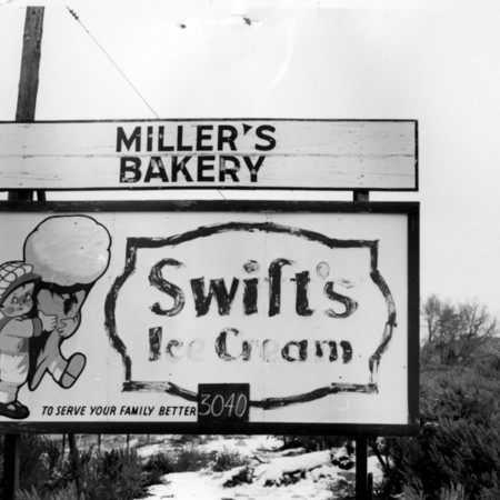 Swift's Ice Cream road sign in Sanpete County