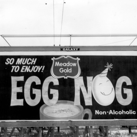 Meadow Gold Egg Nog road sign in Weber County