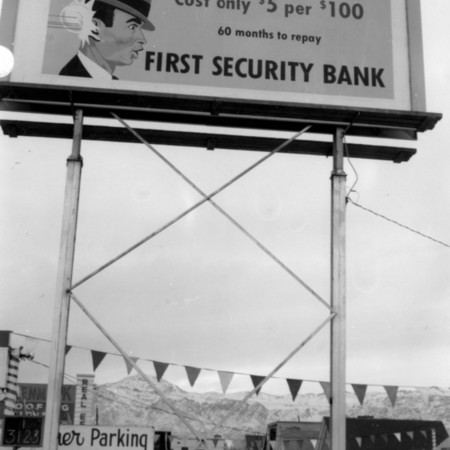 First Security Bank road sign in Weber County