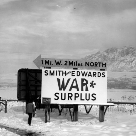 Smith & Edwards road sign in Weber County