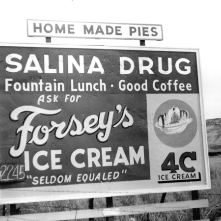 Salina Drug road sign in Sevier County