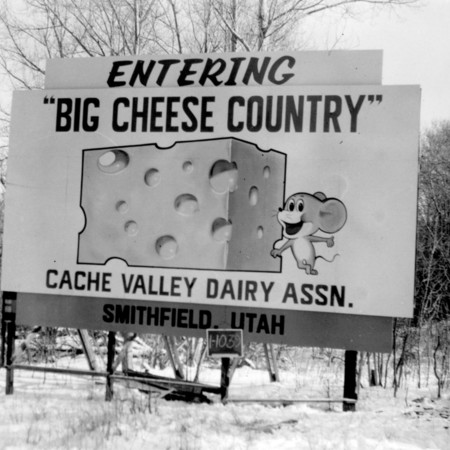 Cache Valley Dairy Association road sign in Cache County