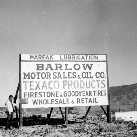 Barlow Motor Sales road sign in Piute County