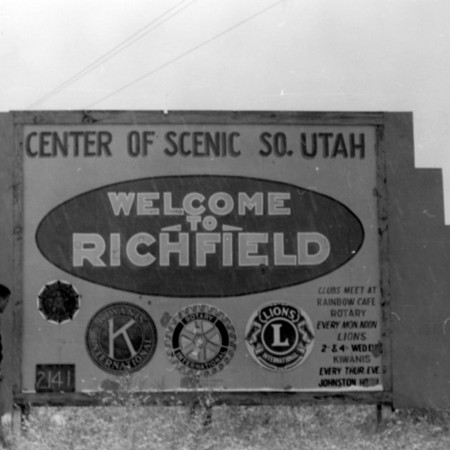 Welcome to Richfield road sign in Sevier County