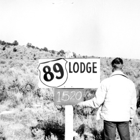 89 Lodge road sign in Garfield County