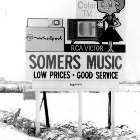 Somers Music road sign in Cache County
