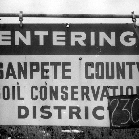 Sanpete Soil Conservation District road sign in Sanpete County