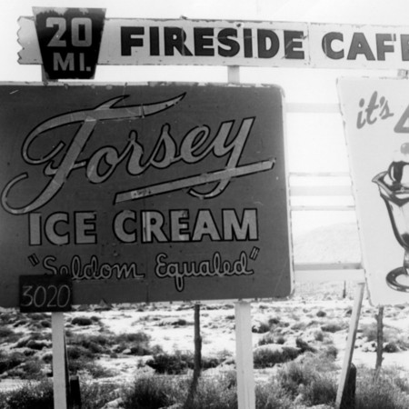 Forsey Ice Cream road sign in Sanpete County