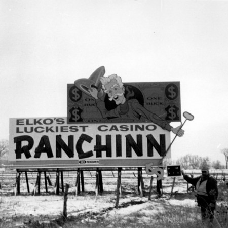 Ranchinn Casino road sign in Davis County
