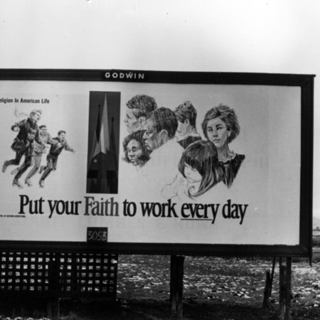 Put Your Faith to Work road sign in Sanpete County