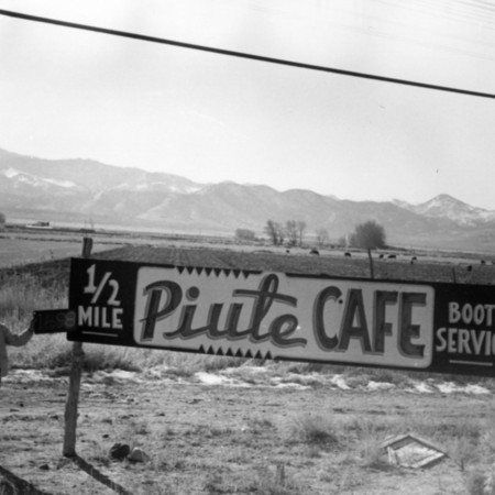 Piute Cafe road sign in Piute County