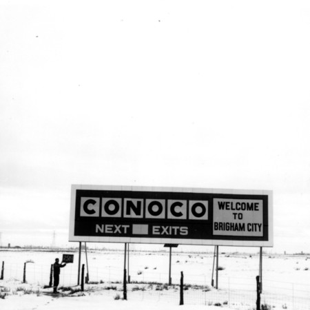 Conoco road sign in Box Elder County
