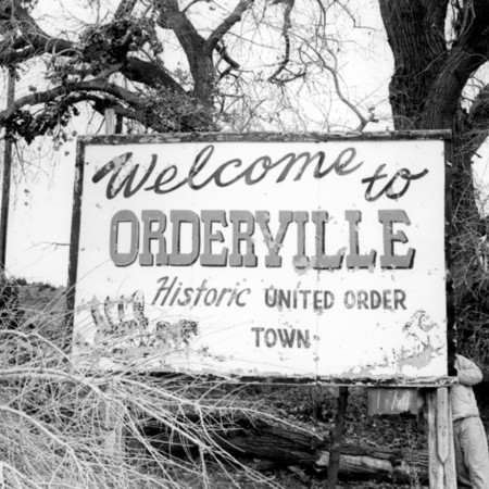 Orderville road sign in Kane County