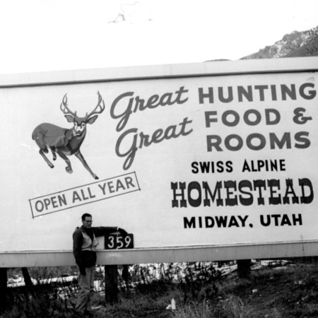 Midway Homestead road sign in Utah County