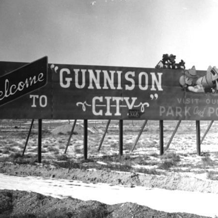 Gunnison City road sign in Sanpete County