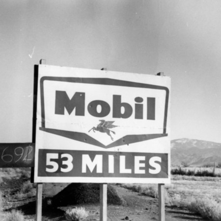 Mobil road sign in Piute County