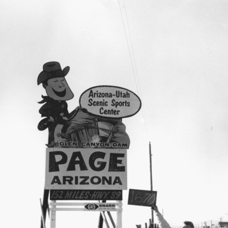 Page Arizona road sign in Garfield County