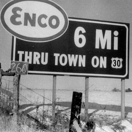 Enco road sign in Box Elder County.